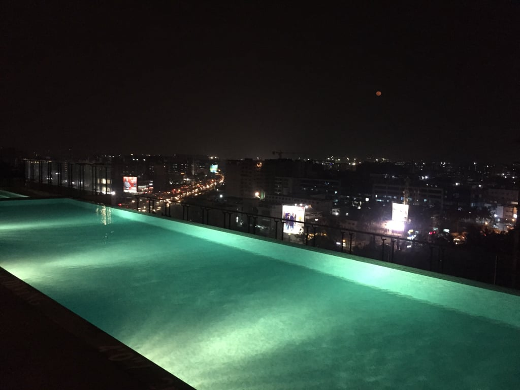 the pool at double tree hilton
