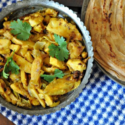 Crispy Punjabi Arbi | Spicy Colocasia Stir Fry