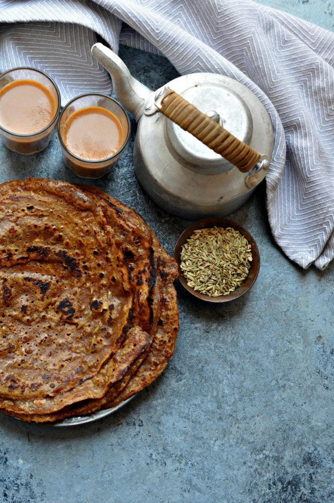 Whole Wheat jaggery crepes