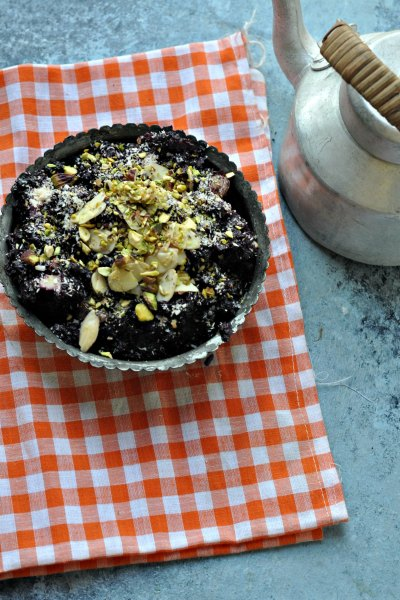 Black Carrot Halwa –  Traditional Carrot Pudding Slow Cooked In Milk
