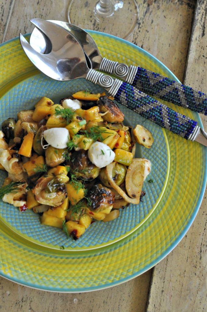 Mango Brussels Sprout Salad