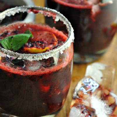 Summer Cocktails – Mulberry Basil Margarita