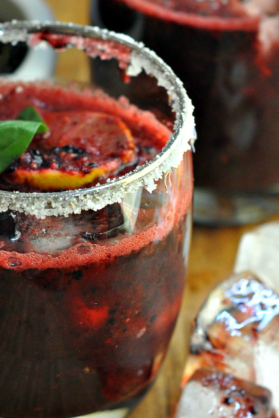 Summer Cocktails – Mulberry Basil Margarita