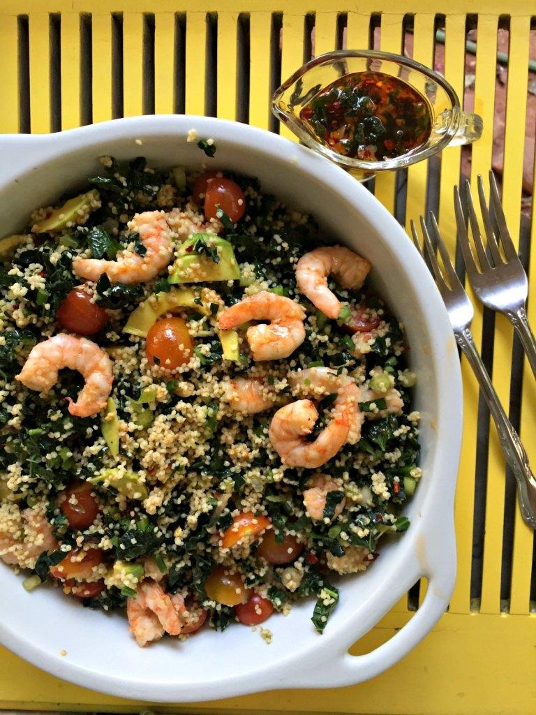 Prawn Kale Millet Salad
