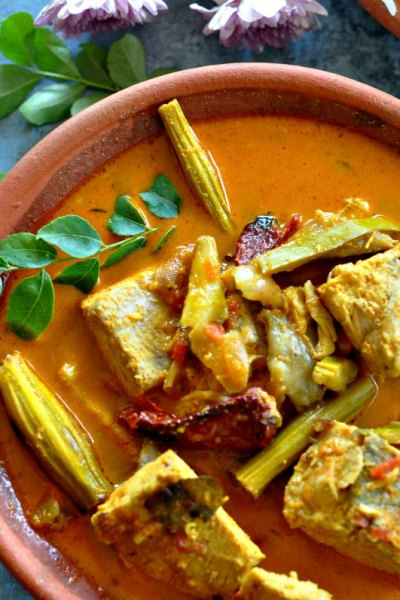 Easy Fish Curry Recipe with Drumsticks and Raw Mango