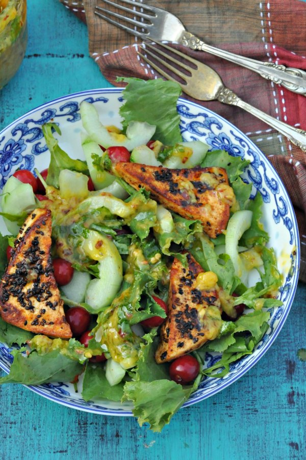 Paneer Mango Cherry Salad