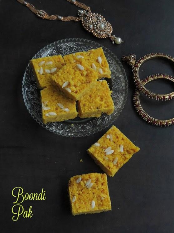Boondi Pak,Boondhi Pak,Sweet Boondi Squares