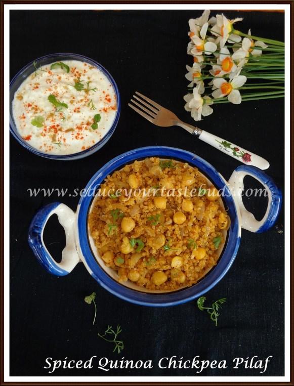 Spiced Quinoa Chickpea Pilaf 0