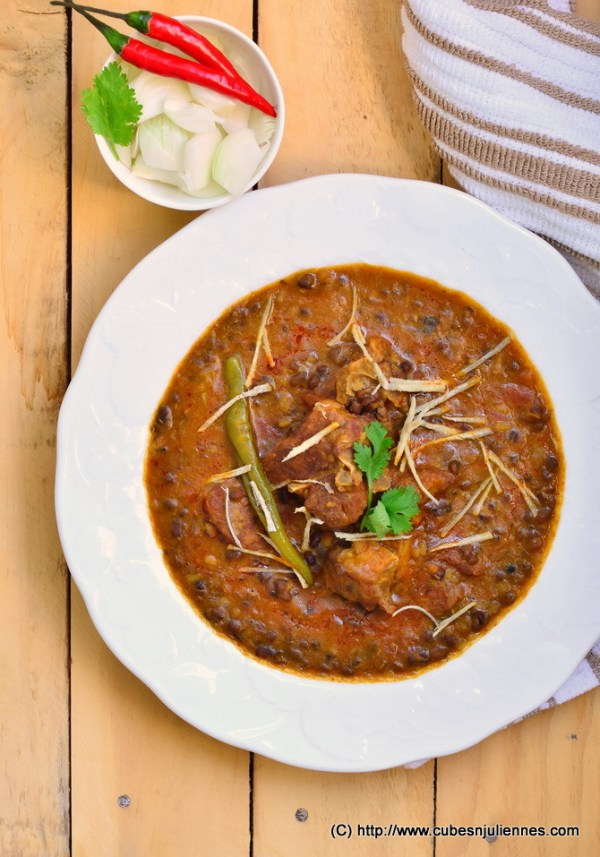 mutton with kaali dal