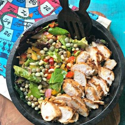 Lentil and Tandoori Chicken Salad Recipe