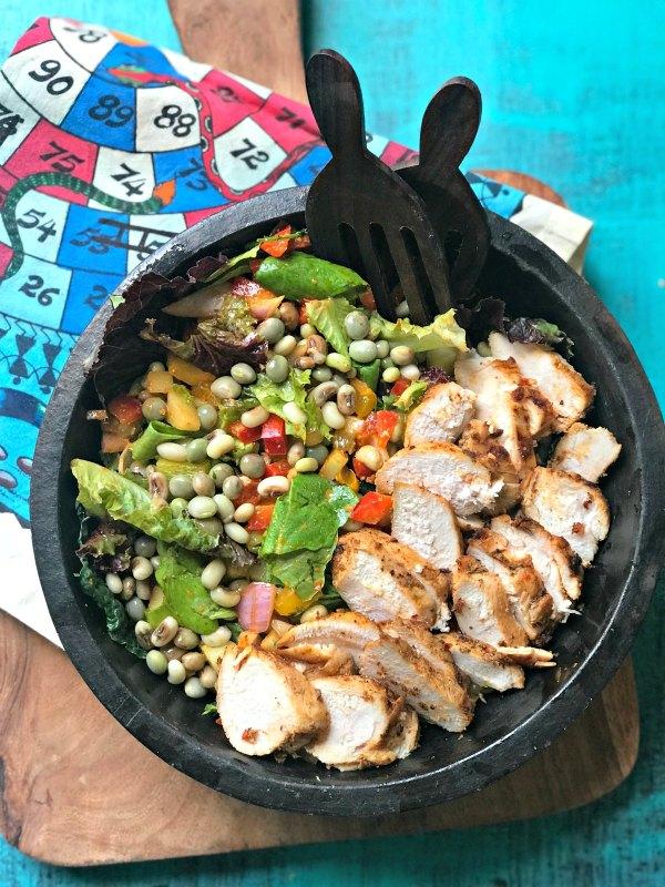 Lentil and Tandoori Chicken Salad