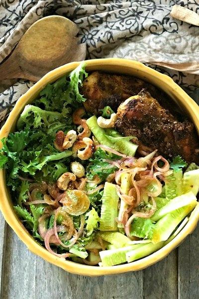 Chicken Xacuti Salad