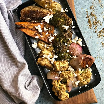 Zaatar Roasted Vegetables with Feta Cheese