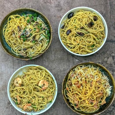 Best Ever Aglio E Olio Four Ways