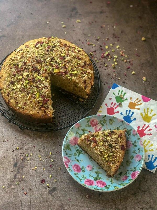 Thandai Mawa Cake