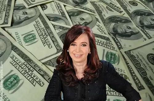 La presidenta y su gabinete ahorran en dolares
