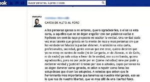 El 'Karateca' Martínez proclama su inocencia por Facebook