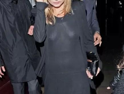 Fotos: Kate Moss en transparente vestido