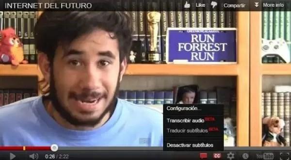 Youtube tendrá subtítulos automáticos en español