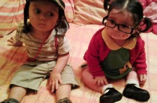 Foto: El Chavo y La Chilindrina de pequeños