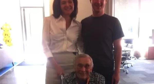 Abuela centenaria en Facebook se reúne con Mark Zuckerberg - Foto