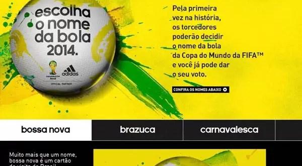 Nombre de la pelota del Mundial Brasil 2014