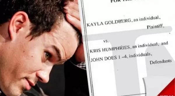 Mujer demanda a Kris Humphries por contagiarle herpes