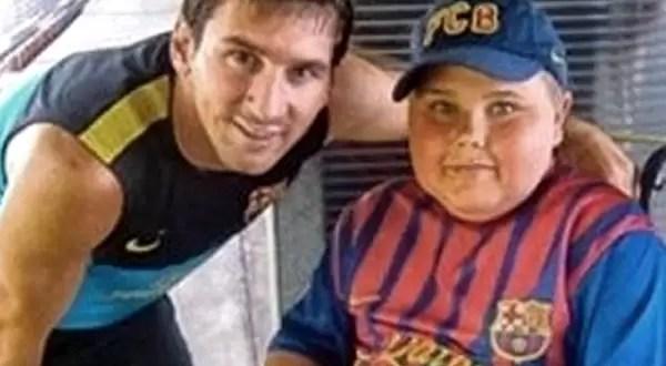 Lio Messi solidario cumple el sueño a un niño belga