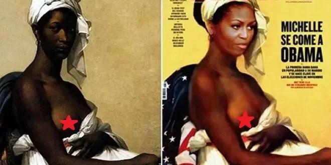 Escándalo por el desnudo de Michelle Obama - Foto