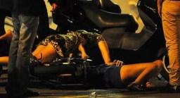 Fotos: Tara Reid cayó borracha de una moto