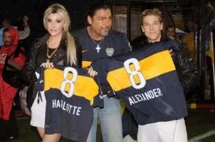 El escándalo de Charlotte y Alexander Caniggia en la cancha de Boca