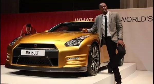 Fotos del nuevo Nissan de oro de Usain Bolt