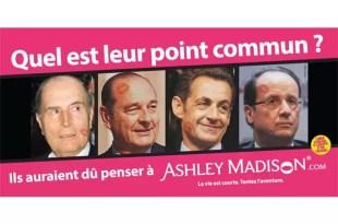 Mandatarios de Francia en un sitio para infieles