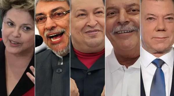Presidentes de distintos países afectados por el cáncer