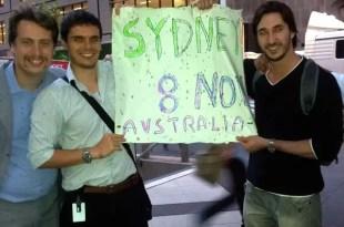 Video: Así empezó la protesta del #8N en Sidney