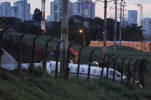 Terrible accidente de avión en Brasil - Video