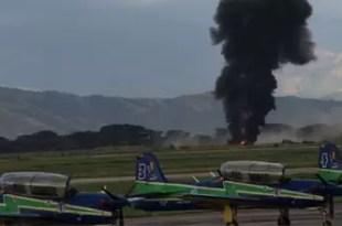 Video: Avión militar venezolano sufre accidente