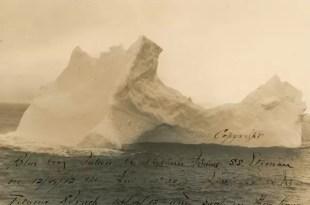 Foto: El iceberg contra el que chocó el Titanic