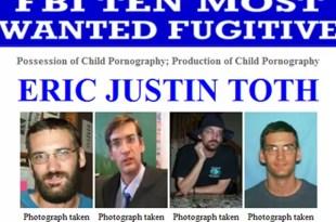Arrestan a Eric Justin Toth, el pederasta más buscado por el FBI