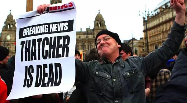 Celebraciones por la muerte de Margaret Thatcher