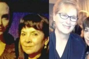 Las fotos de Susana Trimarco con Angelina Jolie y Meryl Streep