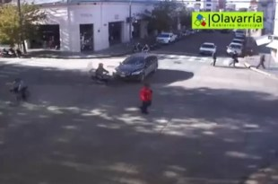 Video: doble accidente por imprudencia al volante
