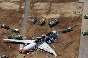 Así quedó el avión de San Francisco por dentro - Fotos