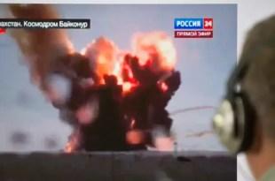 Video: Cohete ruso explotó en pleno lanzamiento