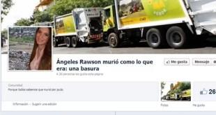 El Facebook que celebró el asesinato de Ángeles Rawson