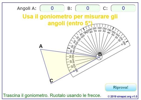 Impara ad usare il goniometro