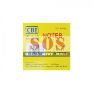 CBE Self Stick 14033 (12 pads/box)
