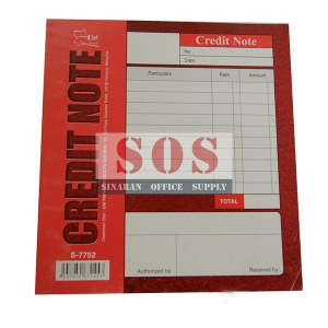 S-7752-Credit Note 10 pcs / pkt