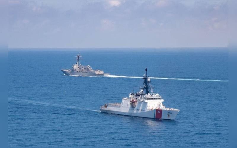 Kapal peronda milik Amerika Syarikat dilihat meronda di perairan Taiwan. - Agensi