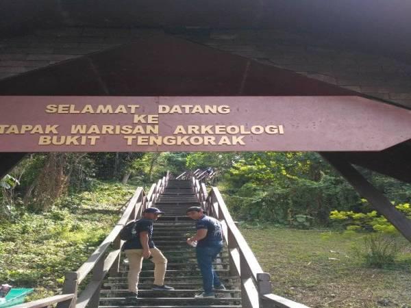 JEJANTAS yang disediakan di Bukit Tengkorak untuk melihat keindahan alam.